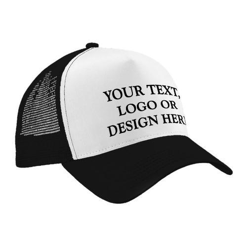 Personalised Adult Trucker Style Cap / Hat - Any Name / Logo / Image